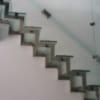 Cầu thang kính cường lực, thợ lắp cầu thang kính