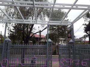Mái sảnh kính cường lực- Mái sảnh kính tphcm – Mái hiên kính tphcm